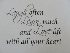 laugh, learn & love!