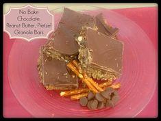 No Bake Chocolate, Peanut Butter, Pretzel Granola Bars - http://saviorcents.com/bake-chocolate-peanut-butter-pretzel-granola-bars/ - #HomemadeGranolaBars
