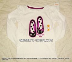 Toddler girl GYMBOREE KITTY CAT SHOES PURFECT PAIR WHITE TOP SHIRT NWT 3T