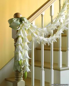 Here's an elegant way to decorate your home for a special occasion or just to celebrate the arrival of spring. For a long space or a double-layer strand, wire together several garlands. For a smaller space or even a spring table, simply cut a shorter length of wire and use smaller buds.