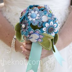 The forever wedding bouquet! Cute idea!