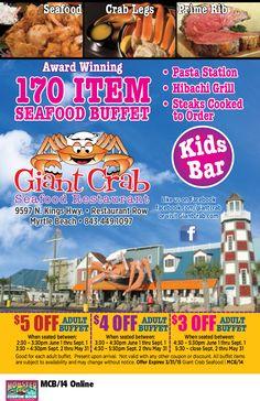 Giant Crab Seafood Restaurant | Myrtle Beach Resorts