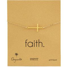 Dogeared Gold-Dipped Integrated Large Cross Bracelet