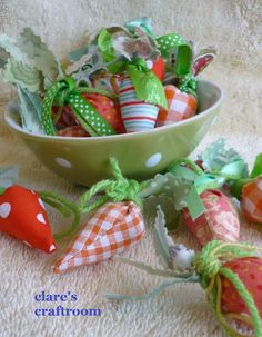 Small fabric carrots from Clares Craftroom