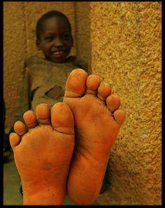 Feet first . Uganda