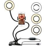 Photo Studio Selfie LED Ring Light with Cell Phone Mobile Holder iPhone Android Ring Light With Stand, Led Ring Light, Cell Phone Stand, Cell Phone Holder, Smartphone Holder, Phone Cases, Usb, Studio Ring Light, Gadgets