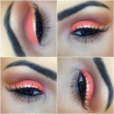 Love the colors.  I love orange eyeshadow.  Looks really good on blue eyes.