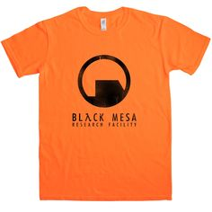 This Half Life inspired t-shirt features a distressed print of a logo for the infamous fictional complex in which the majority of the first Half Life game is set - the Black Mesa Research Facility. This is the facility in which Gordon Freeman works at the beginning of the saga. An accident opens a portal through which spews a horde of alien invaders (isn't it always the way). Now you can look like one of Gordon Freeman's fellow Black Mesa staff members with one of the 100% cotton Half Life…