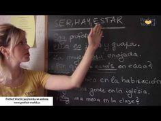 Španělský videotip č.3: Sloveso být - ser, estar a hay | Perfect World, Jazyková škola v Plzni