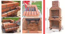 Outdoor Barbeque, Pizza Oven Outdoor, Stone Bbq, Brick Bbq, Diy Grill, Brick Construction, Diy Kitchen Storage, Bbq Area, Backyard