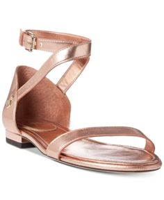 f5f230b02db Lauren Ralph Lauren Davison Two-Piece Flat Sandals Shoes - Sandals   Flip  Flops - Macy s