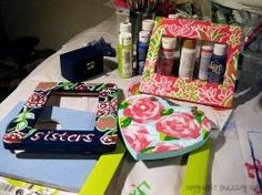 Sorority Crafts. These tutorials make me believe that maybe I could paint a Lilly pattern.