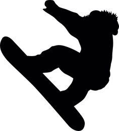 Snowboarding Silhouette - 1
