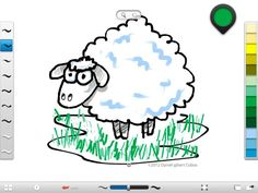 Sheep made in Sketchbook Ink for iPad