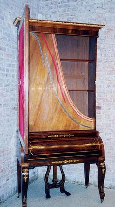 "Stodart upright grand piano (""bookcase grand"")  http://pinterest.com/cameronpiano"