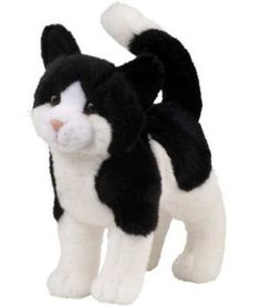 Stuffed Animal: Plush Stuffed Animal Black and White Cat -- Read more reviews of the product by visiting the link on the image.