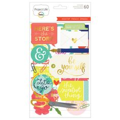Add some fun extra details to your photos and journaling cards with the Desktop Edition Chipboard Stickers designed by Tiffani Smith. With stickers in a variety