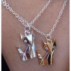 Fox and Moissanite pendant