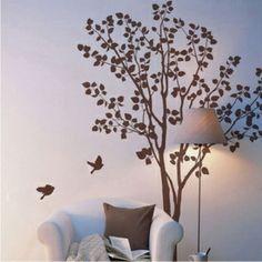 Дерево стены стикеры гостиной спальня диван Телевизор обои дерево опушка пейзаж M870-Taobao