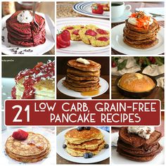 The best low carb, grain-free pancake recipes, all in one place. When you start a low carb or keto diet, it can be hard to believe you can have pancakes. But they make an easy, healthy and filling breakfast. And even the non-low carbers love them!