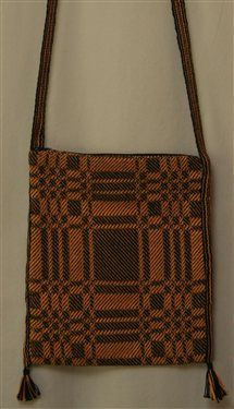Block Twill Bag with an inkle woven strap - Media - Weaving Today