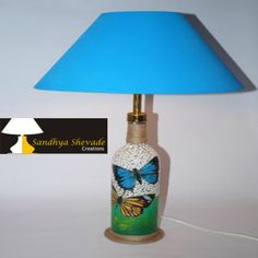 Happiness is when what you think, what you say, what you do are in harmony Happiness is when i created Blue Hand made Lamp shade http://www.sandhyashevadecreations.com