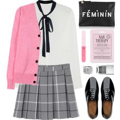 A fashion look from October 2015 featuring Joseph blouses, Victoria Beckham cardigans and Monki skirts. Browse and shop related looks.