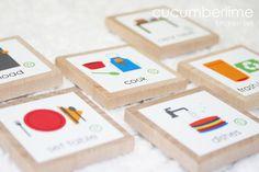 Kitchen Chores--Kitchen Set 6 by cucumberlime on Etsy, $4.75