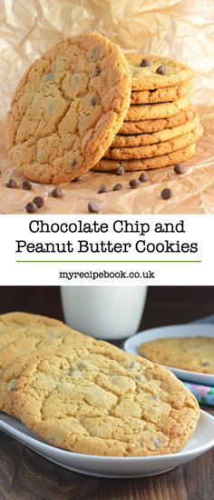 Chocolate chip and peanut butter cookies. Soft and gooey on the inside, slightly crisp on the outside. Absolutely delicious!