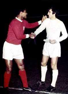 Eusebio and George Best, 1968