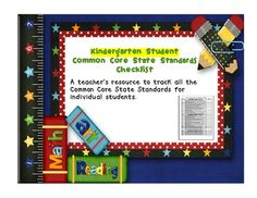 This is a resource for recording student progress in each of the Kindergarten Common Core State Standards.  There are four pages that should be cop...