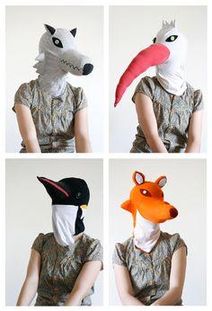 Lisa Sanchis : Portfolio : design objets / design textile : Cagoules animaux