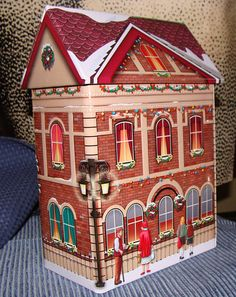 Seasonal Tin Christmas Tin House Tin Unused Believe