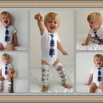 Tie Onesies for the 'Little Man' in your life!  Custom orders welcome- email mod.tots@hotmail.com for enquires