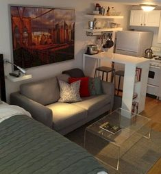 Awesome and Cute Apartment Studio Decor Ideas – Awesome and Cute Apartment Studio Decor Ideas – Related posts: Smart Cute Apartment Studio Decor Ideas 42 Inspiring Studio Apartment Decor Ideas 42 Minimalist Apartment Studio Decorating Ideas home decor Tiny Studio Apartments, Studio Apartment Design, Studio Apartment Decorating, Studio Design, Studio Layout, Small Apartment Interior Design, Decorating Small Apartments, Garage Studio Apartment, Small Apartment Layout