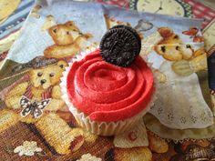 tea-time!!! with a cupcake!