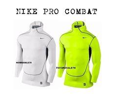 MEN'S NIKE PRO COMBAT SCUBA HOODIE HYPERWARM SERIES LONG SLEEVE SHIRT BASE LAYER #Nike #ShirtsTops Shirt Sleeves, Long Sleeve Shirts, Nike Pro Combat, Nike Pros, Nike Men, Layers, Base, Hoodies, Sweaters