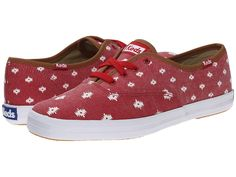 KEDS KEDS - CHAMPION NATIVE DOT (CHILI RED TWILL) WOMEN'S LACE UP CASUAL SHOES. #keds #shoes #