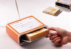 Who wouldn't want to write on toast!