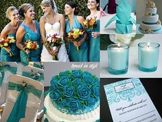 Bruid in Stijl: Wedding trend 2010: Turquoise Thema