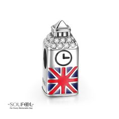 Soufeel UK BIG BEN Charm 925 Sterling Silver Compatible All Brands Basic Bracelet. For Every Memorable Day