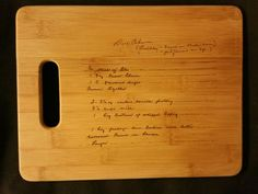 Custom engraved cutting board for Veronica from 3DCarving on Etsy