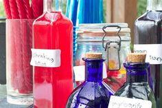 'magic' potions- baking soda, vinegar, pop rocks, dried dye on spoons