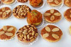 Al Baba Sweets Lavender themed reception #tarts #pine #seeds #pumpkin #almonds