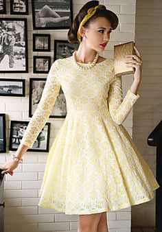 Vintage Cut Out Embroideried Swing Dress... Beautiful!