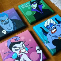 I was recently commissioned to draw these 4 Disney villains to make up one…