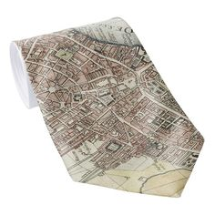 Vintage Map of London England (1727) Tie