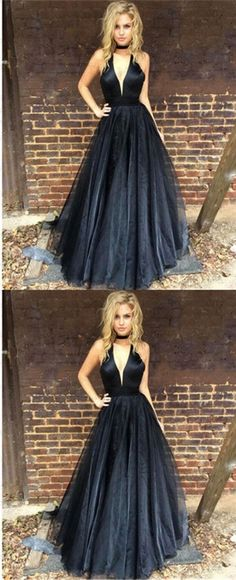 Sexy Deep-V-neck Fashion Cheap Elegant Prom Dresses, A-line Formal Party Dress. PD0363 #longpromdresses