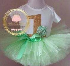 Check out this item in my Etsy shop https://www.etsy.com/ca/listing/267223899/mint-birthday-outfit-shabby-birthday