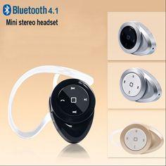 Mini Bluetooth V4.1 Wireless Headset Handsfree Earphone Stereo Headphones Earbud for Samsung S6 Note 4 5 iPhone Samsung Earhook